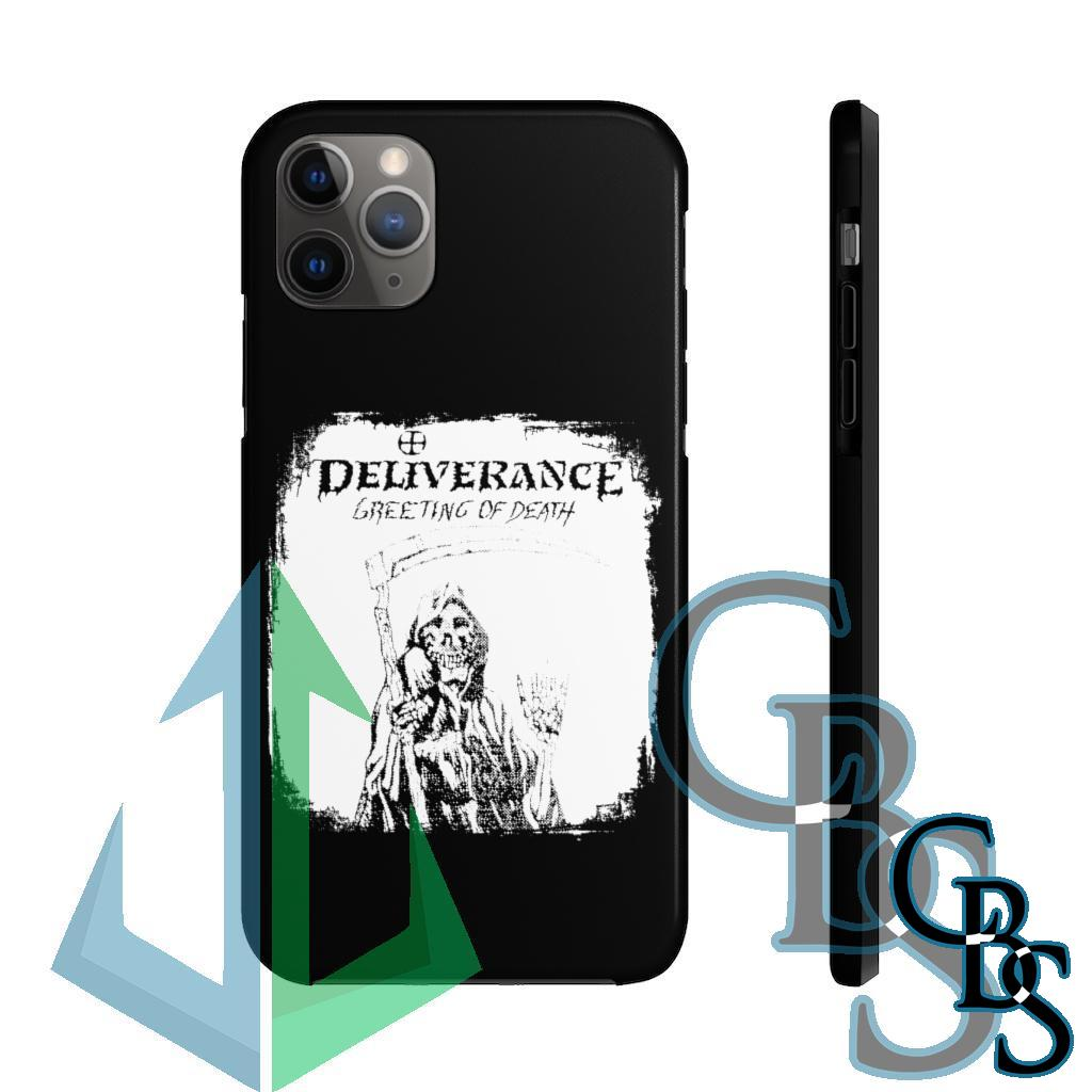 Deliverance – Greeting of Death Tough iPhone Cases (iPhone 7/7 Plus, iPhone 8/8 Plus, iPhone X, XS, XR, iPhone 11, 11 Pro, 11 Pro Max)