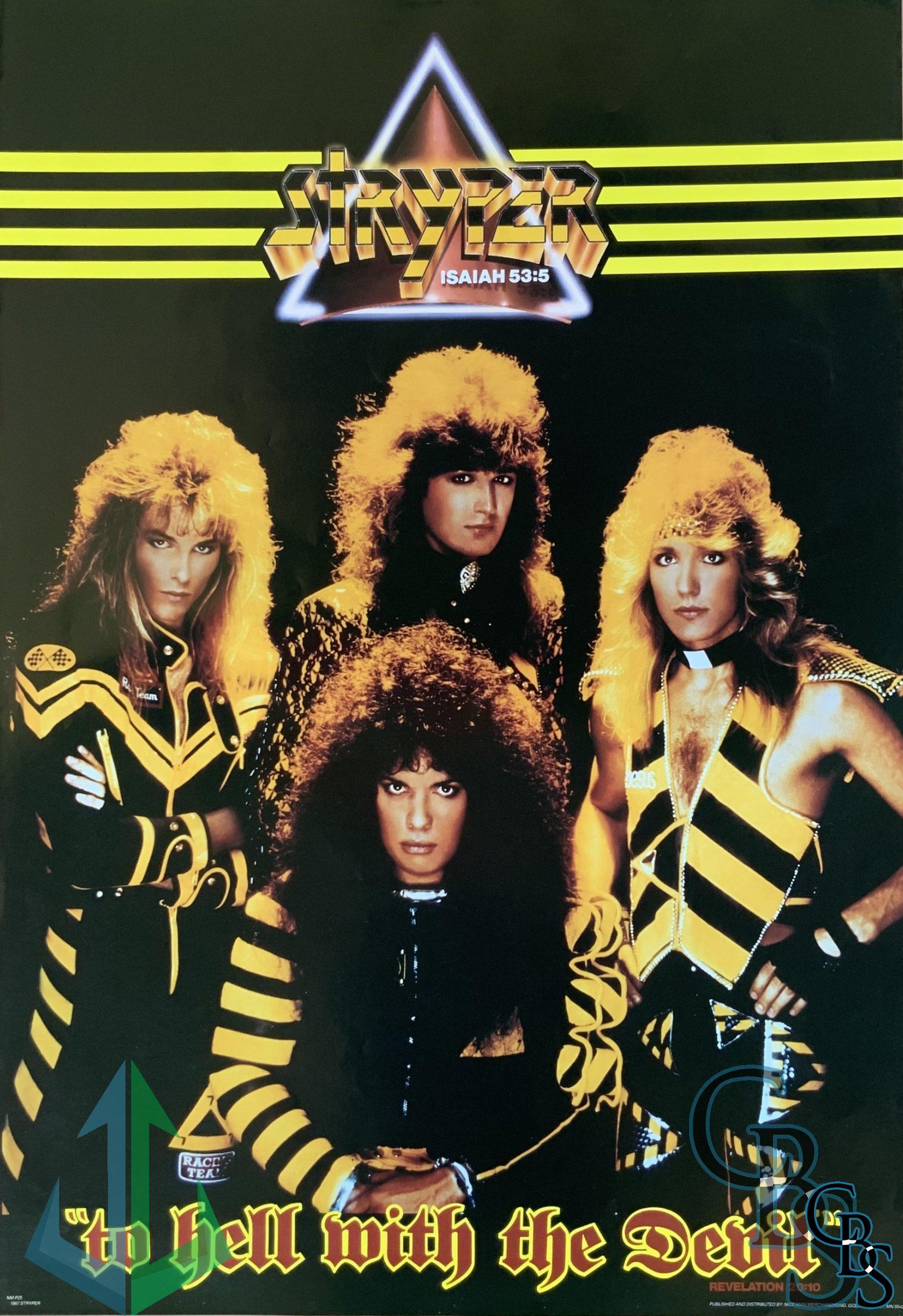Stryper – To Hell With The Devil Vintage Poster Rare
