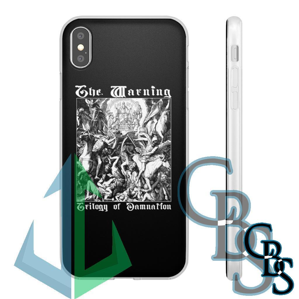 The Warning – Trilogy of Damnation Clear Edge TPU Case for Samsung S10 and iPhone 7 thru Iphone 11 Pro Max