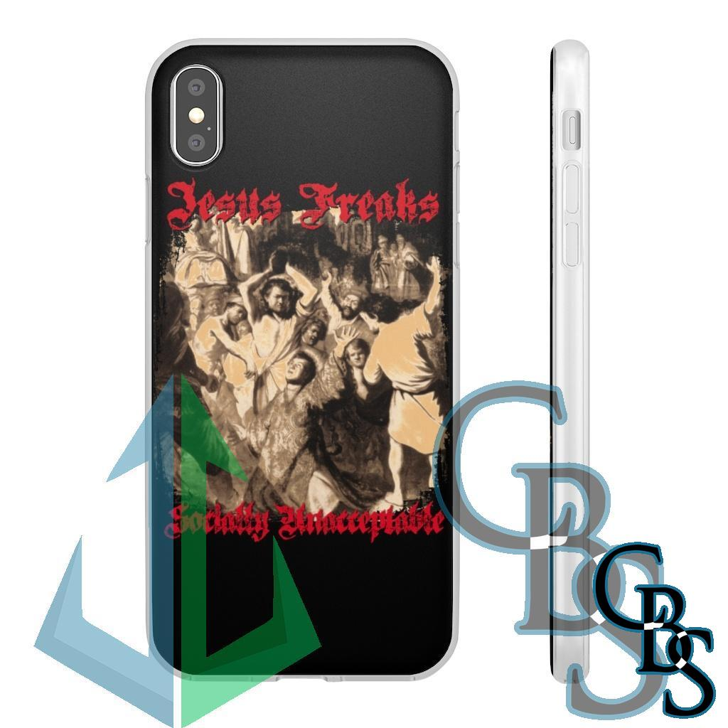 Jesus Freaks – Socially Unacceptable Clear Edge TPU Case for Samsung S10 and iPhone 7 thru Iphone 11 Pro Max