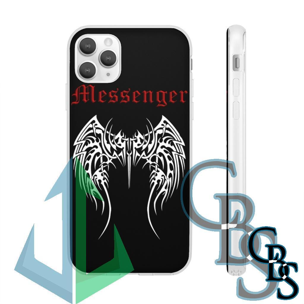 Messenger Logo Clear Edge TPU Case  v2 for Samsung S10 and iPhone 7 thru Iphone 11 Pro Max