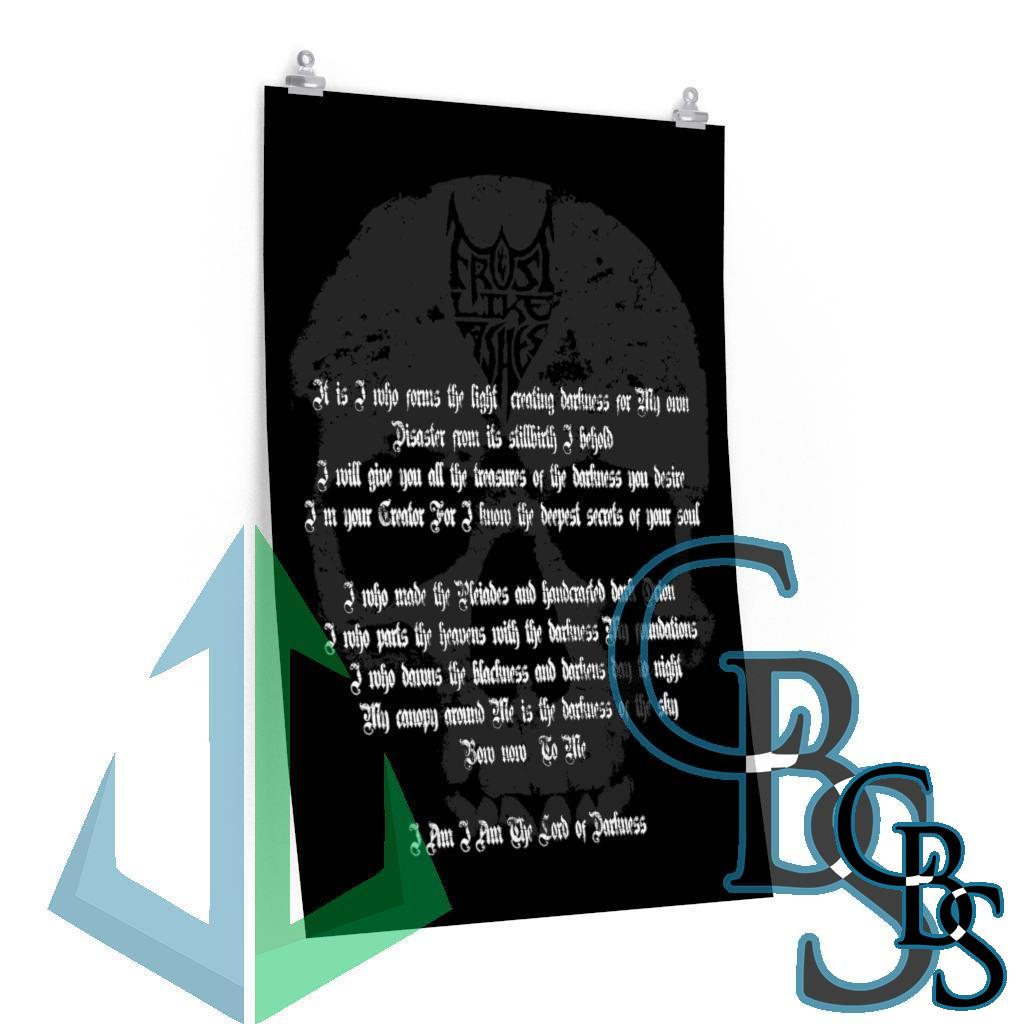 Frost Like Ashes Lord of Darkness Lyrics Posters