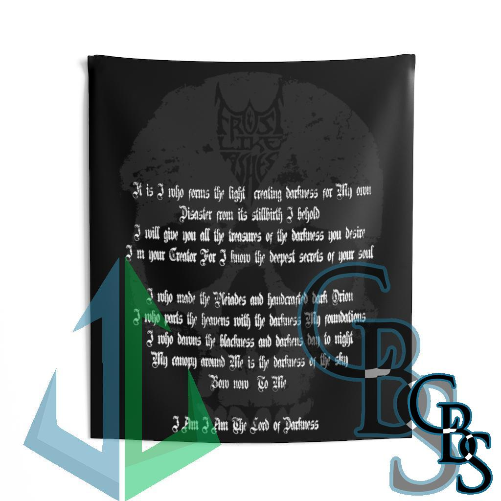 Frost Like Ashes Lord of Darkness Lyrics Indoor Wall Tapestries