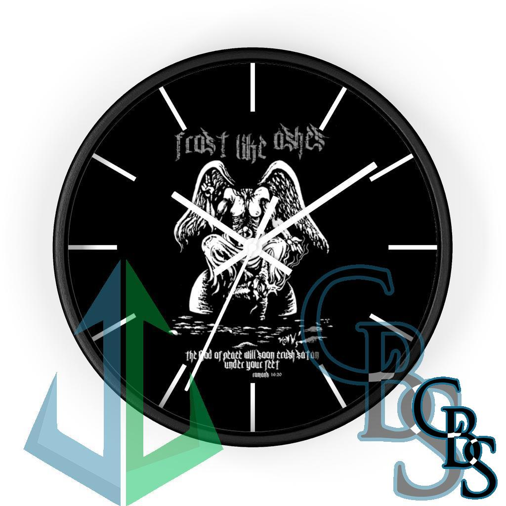 Frost Like Ashes Desecrated Baphomet Wall clock