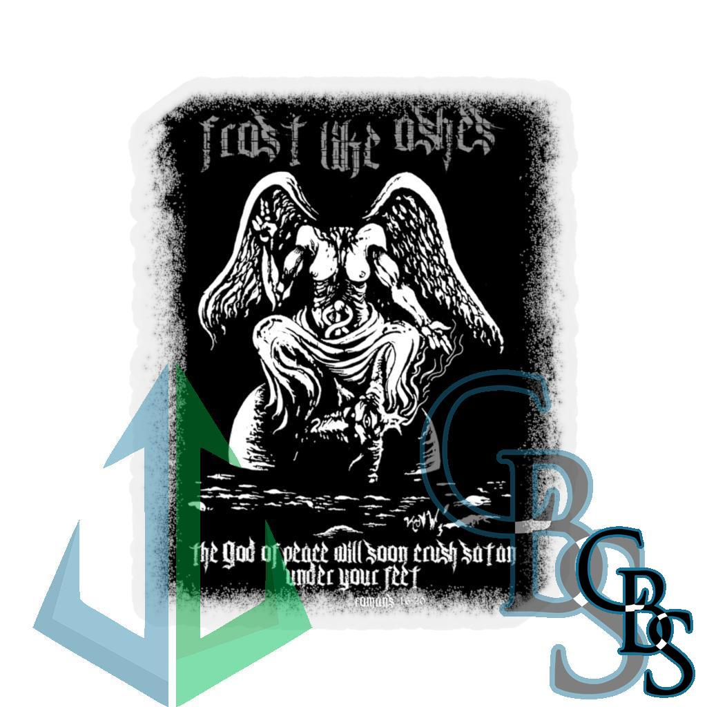 Frost Like Ashes Desecrated Baphomet  Die Cut Stickers