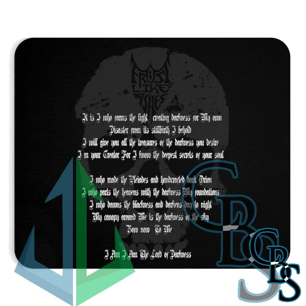 Frost Like Ashes Lord of Darkness Lyrics Mouse Pad
