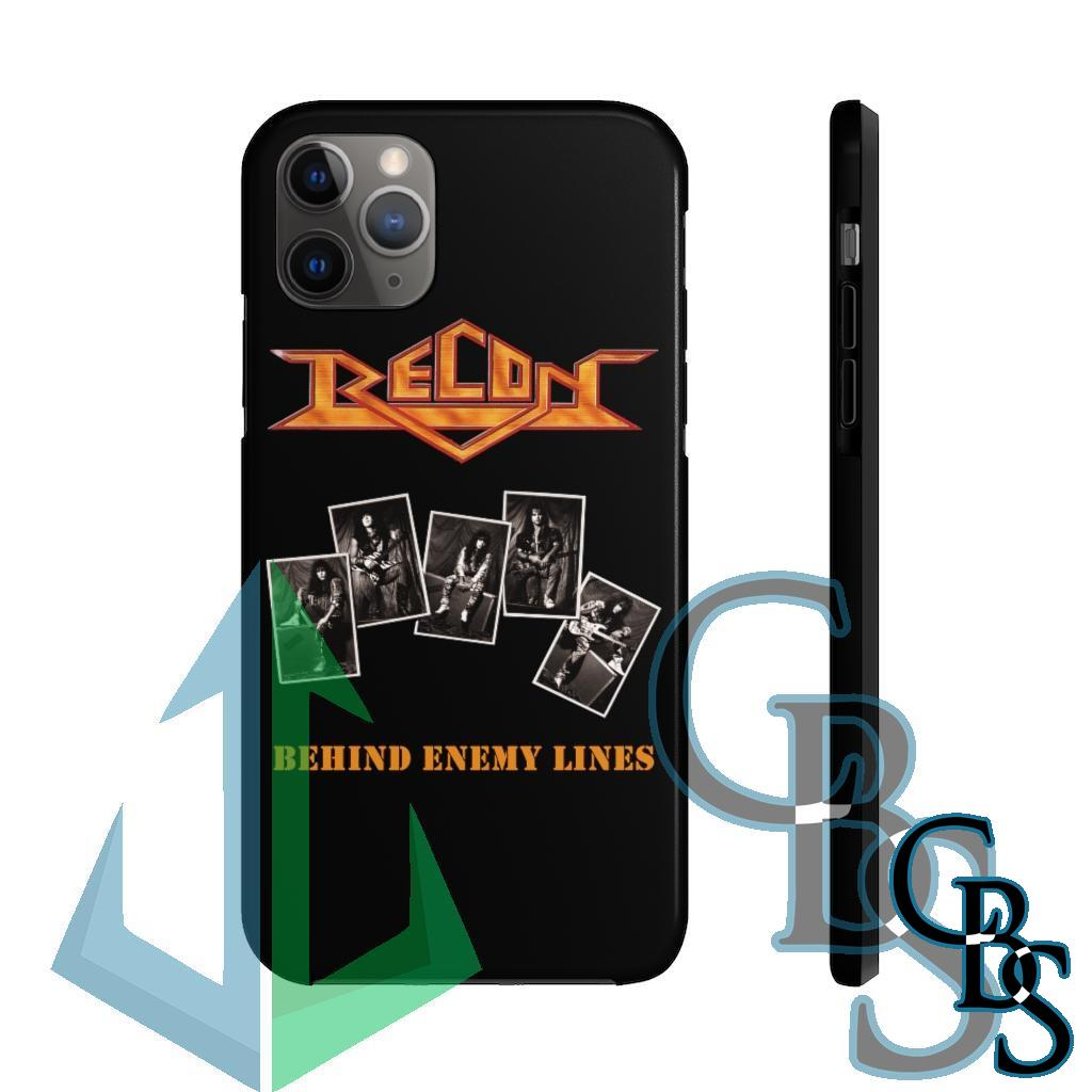 Recon – Behind Enemy Lines Black Tough iPhone Cases (iPhone 7/7 Plus, iPhone 8/8 Plus, iPhone X, XS, XR, iPhone 11, 11 Pro, 11 Pro Max)