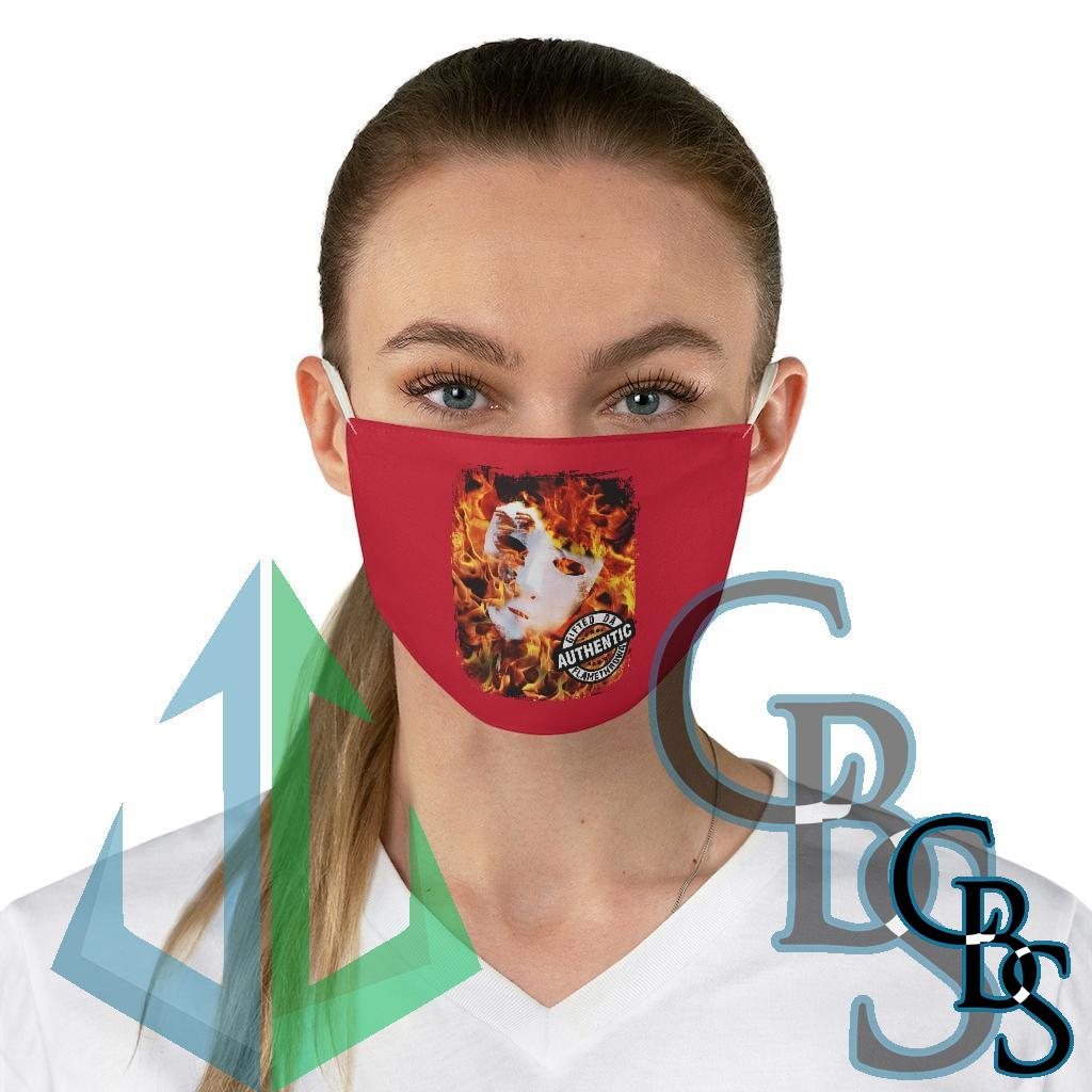 Gifted Da Flamethrowa – Authentic Red Fabric Face Mask