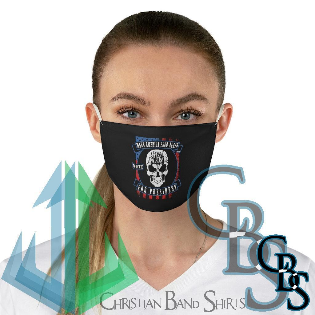 Grave Robber Make America Fear Again Fabric Face Mask