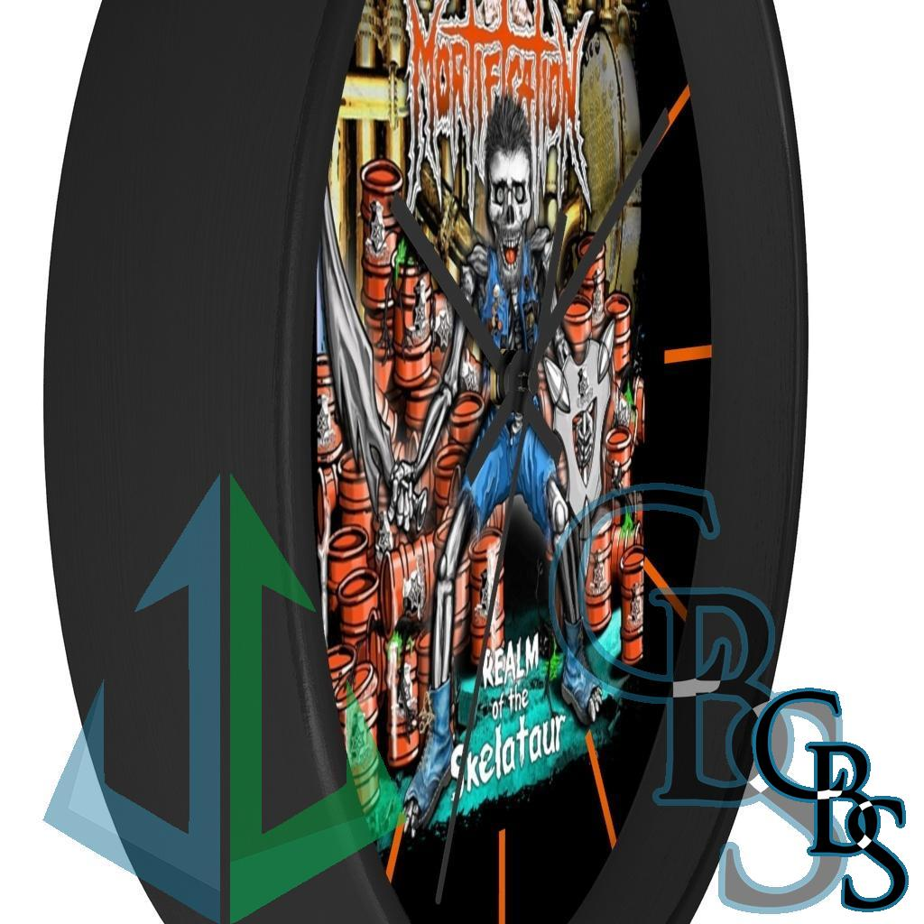 Mortification – Realm of the Skelataur Wall clock