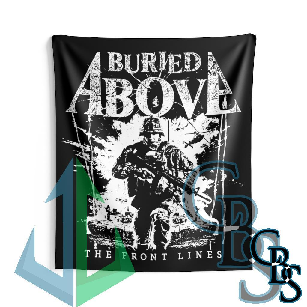 Buried Above – The Front Lines Indoor Wall Tapestries
