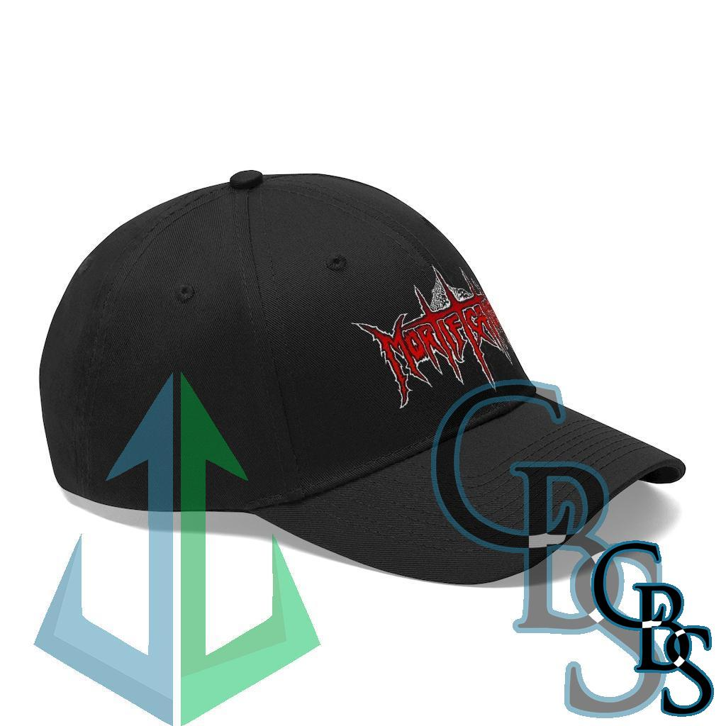 Mortification Red and White Logo Twill Cap