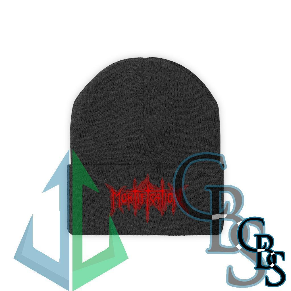 Mortification Red Logo Knit Beanie
