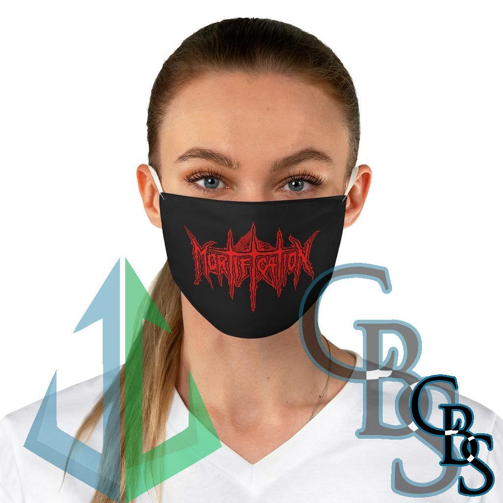 Mortification Red Logo Fabric Face Mask