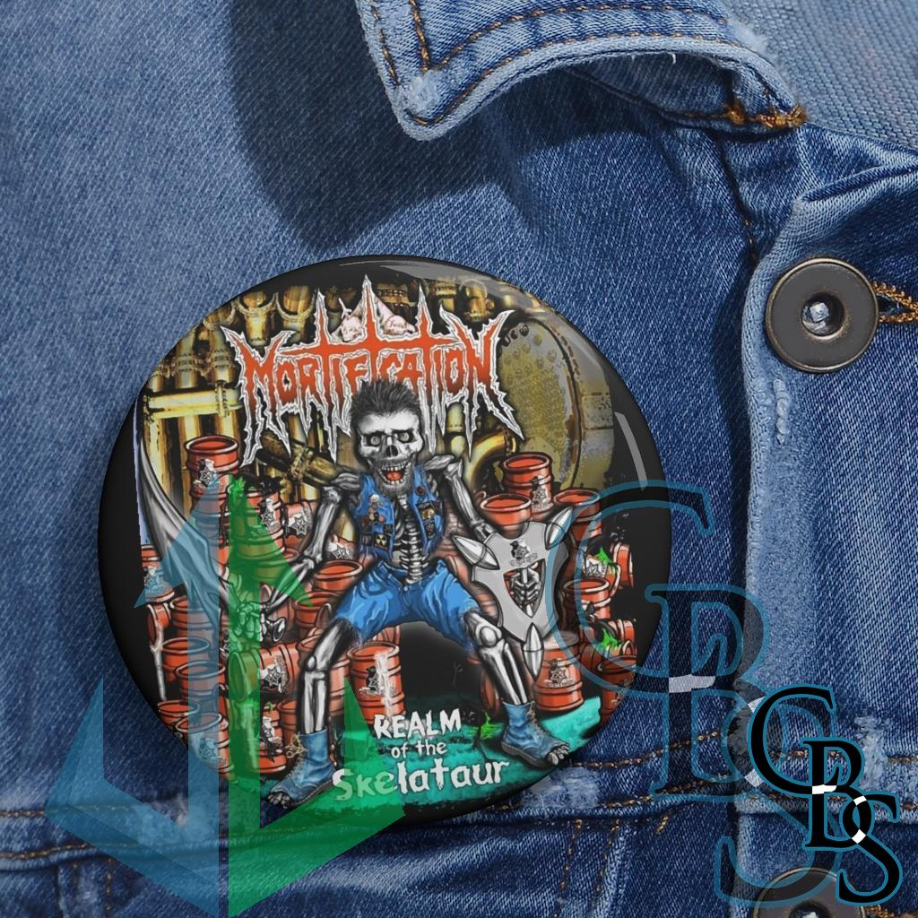 Mortification – Realm of the Skelataur Basic Pin Buttons