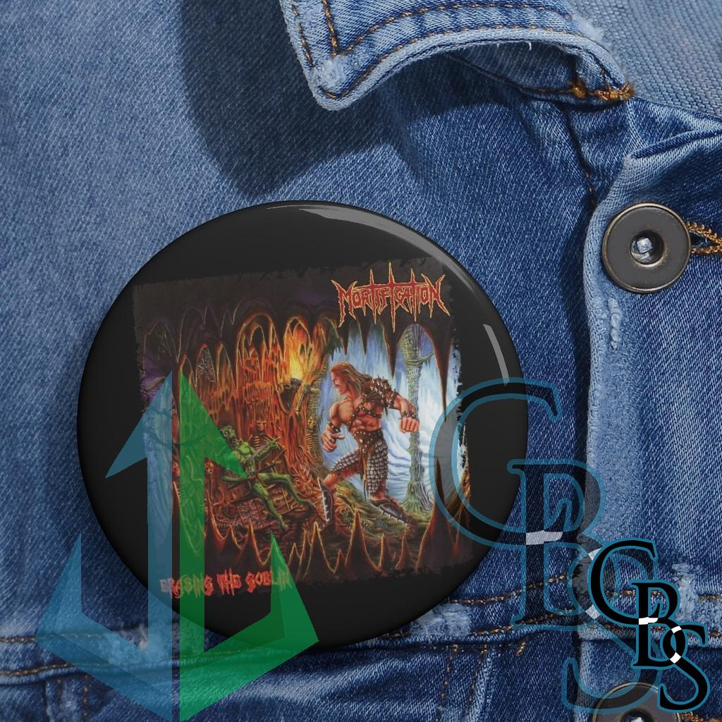 Mortification – Erasing the Goblin Cavern Edition Pin Buttons