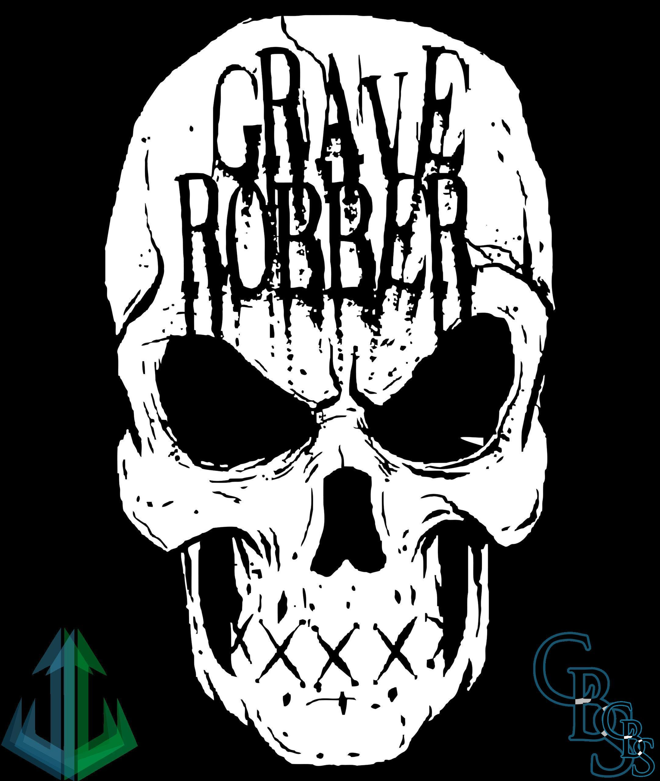 Grave Robber Skull Canvas Patches (3 sizes)