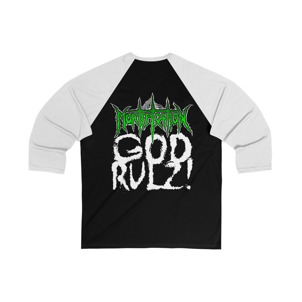 Mortification The Majestic Infiltration of Order 3/4 Sleeve Baseball Tee
