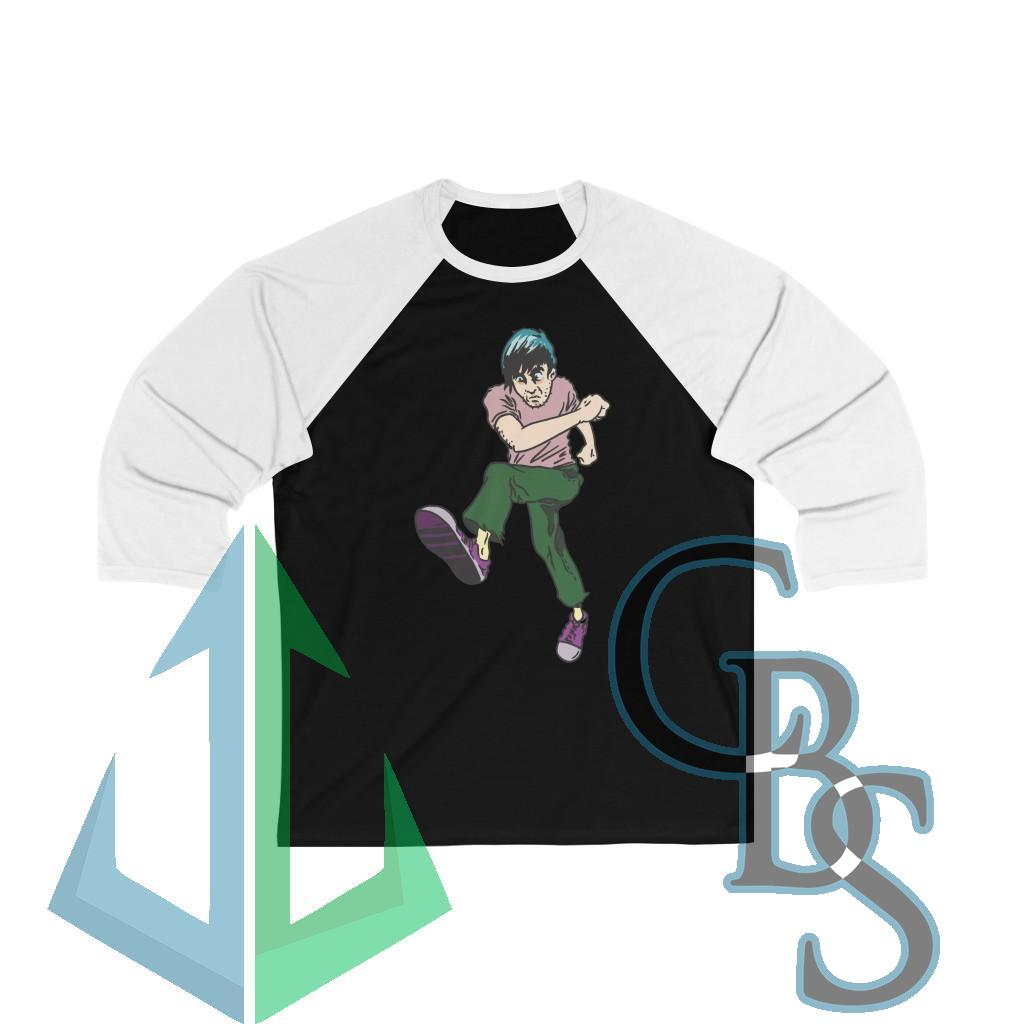 Heaven's Metal Pit Moves Two-Step 3/4 Sleeve Baseball Tee
