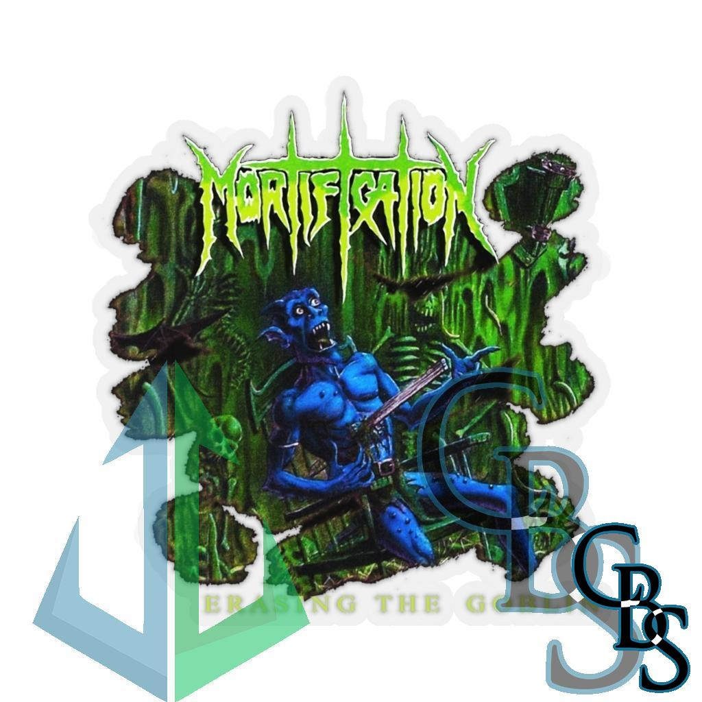Mortification – Erase the Goblin Die Cut Stickers