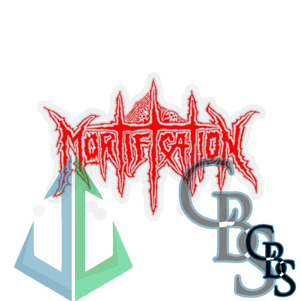 Mortification Red Logo Die Cut Stickers