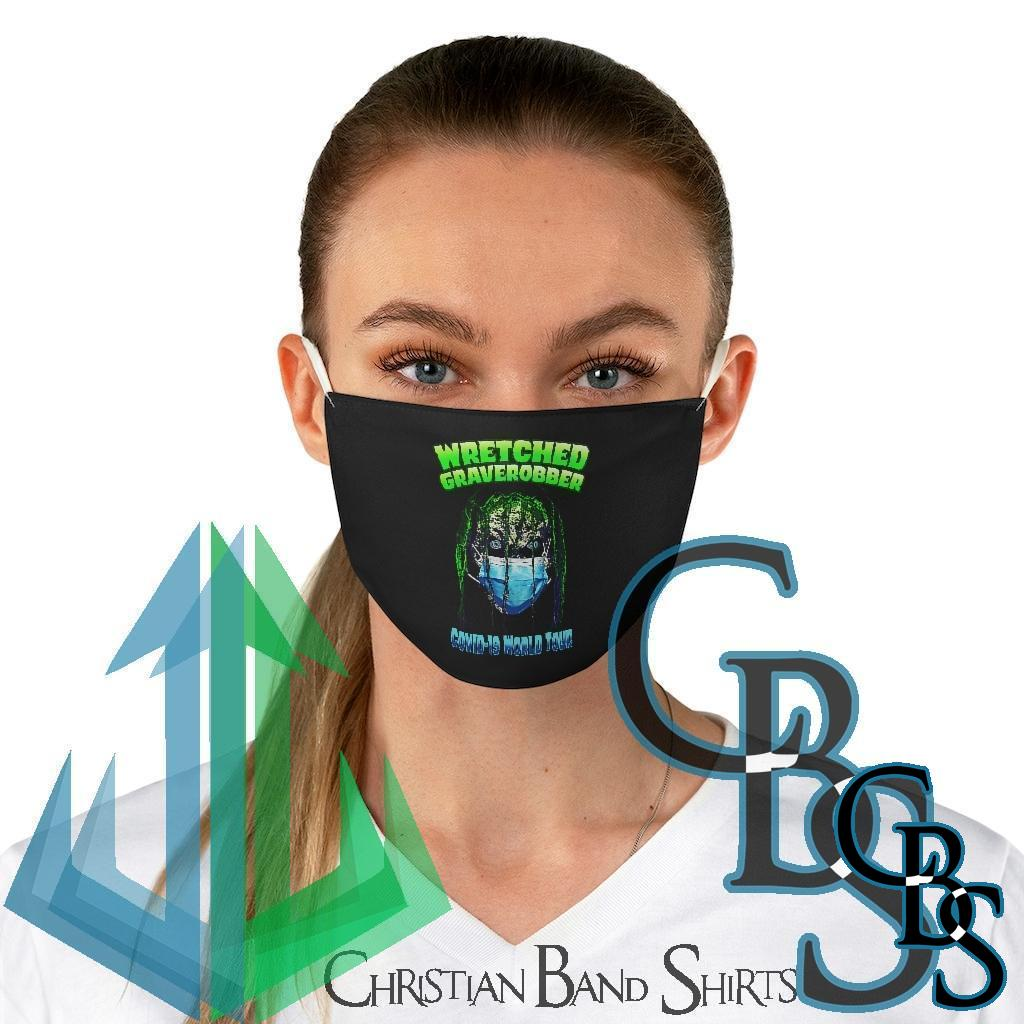 Wretched Graverobber Covid 19 World Tour Fabric Face Mask