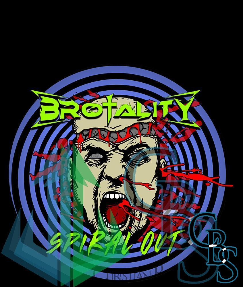 Brotality – Spiral Out Printed Canvas Patches (3 Sizes)