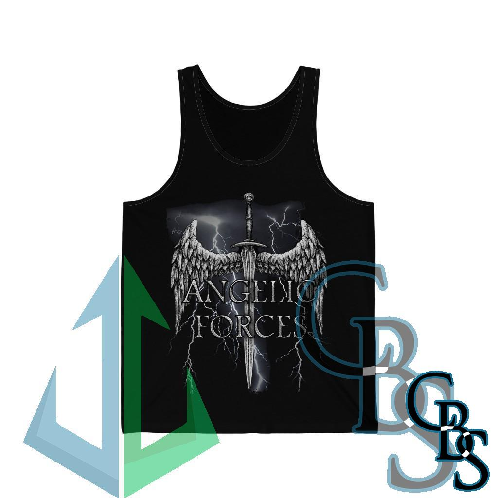 Angelic Forces Lightning Unisex Jersey Tank Top
