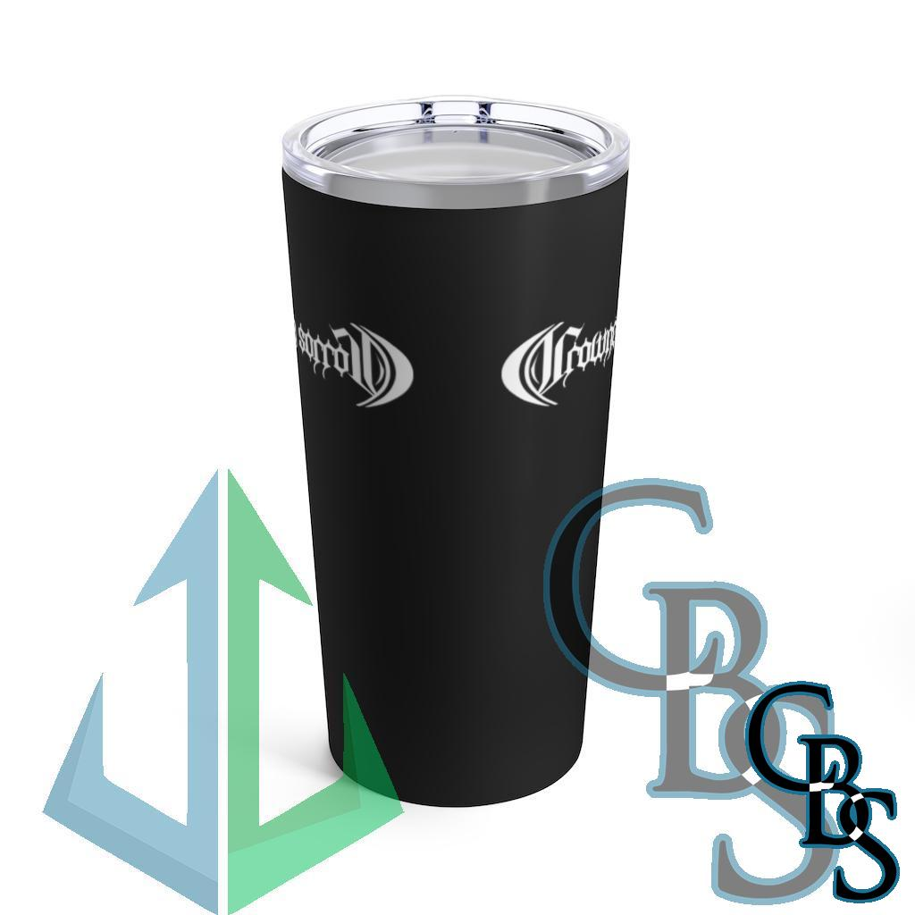 Crowned in Sorrow White Logo 20oz Stainless Steel Tumbler