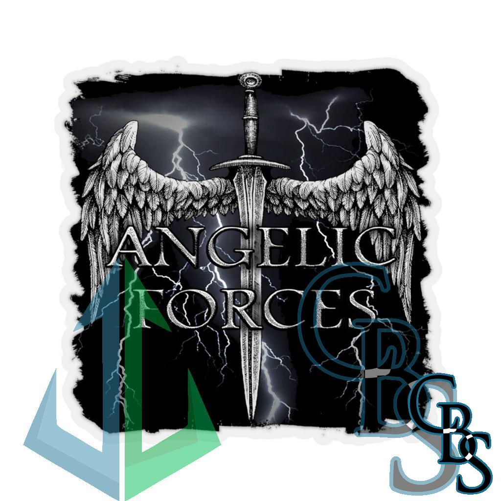 Angelic Forces Lightning Die Cut Stickers