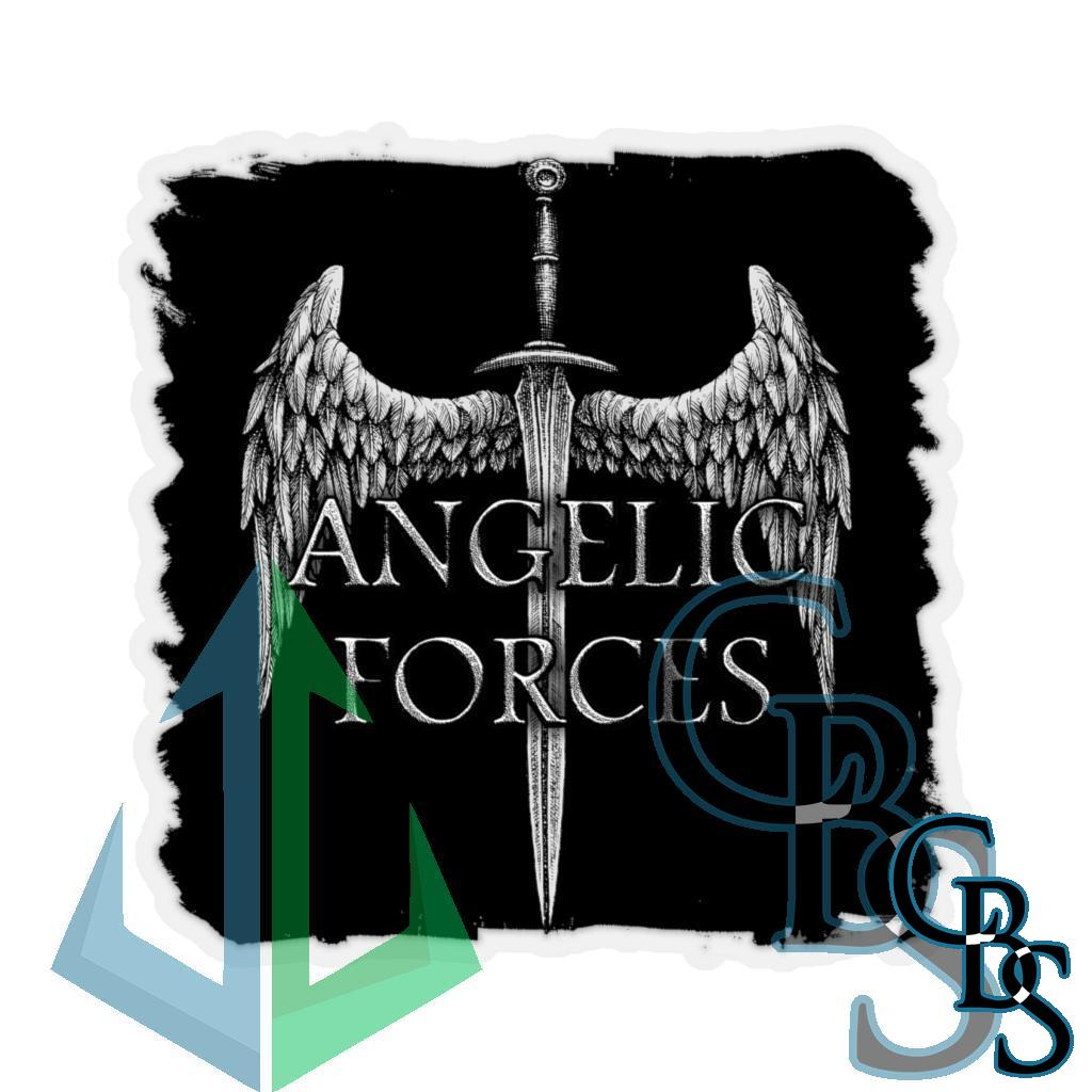 Angelic Forces Sword and Wing V2 Die Cut Stickers