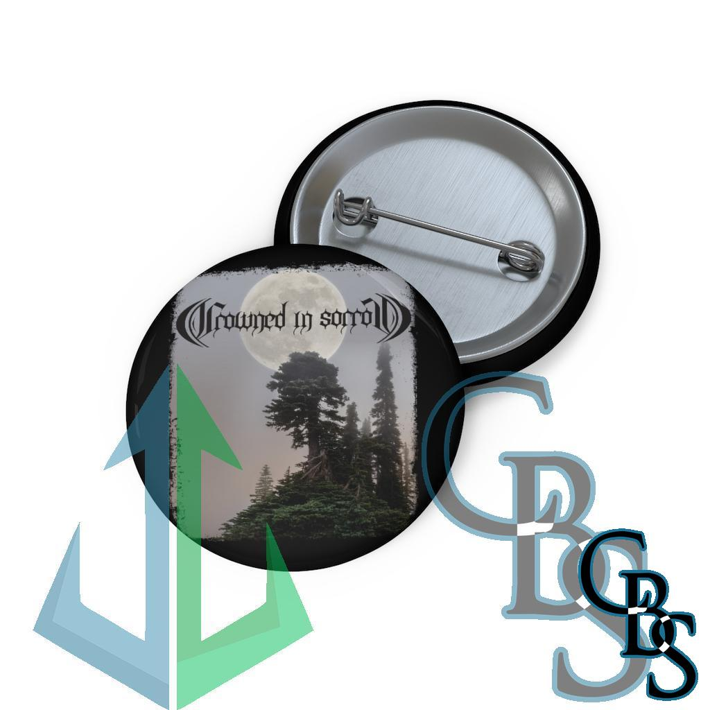 Crowned in Sorrow TM Pin Buttons
