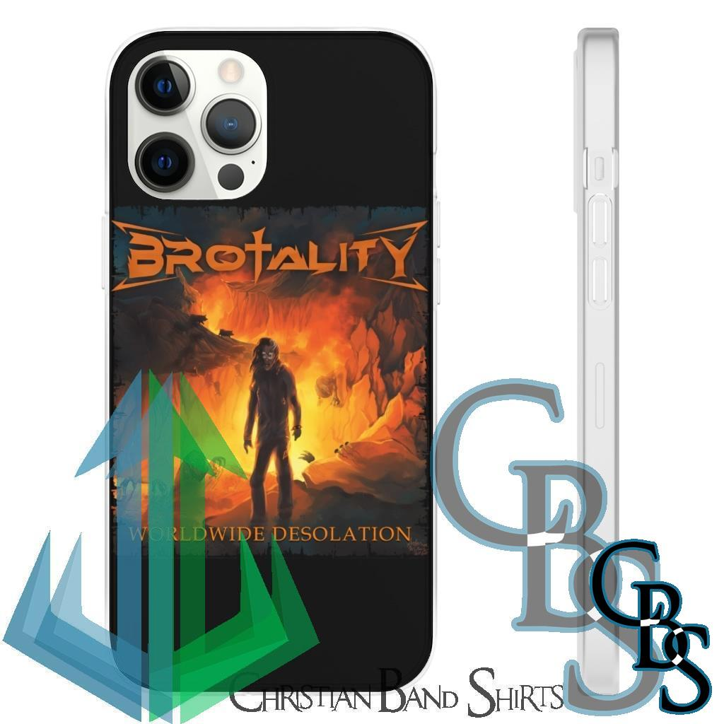 Brotality – Worldwide Desolation Clear Edge TPU Cases for iPhone 7 through iPhone 12, Samsung Galaxy S10