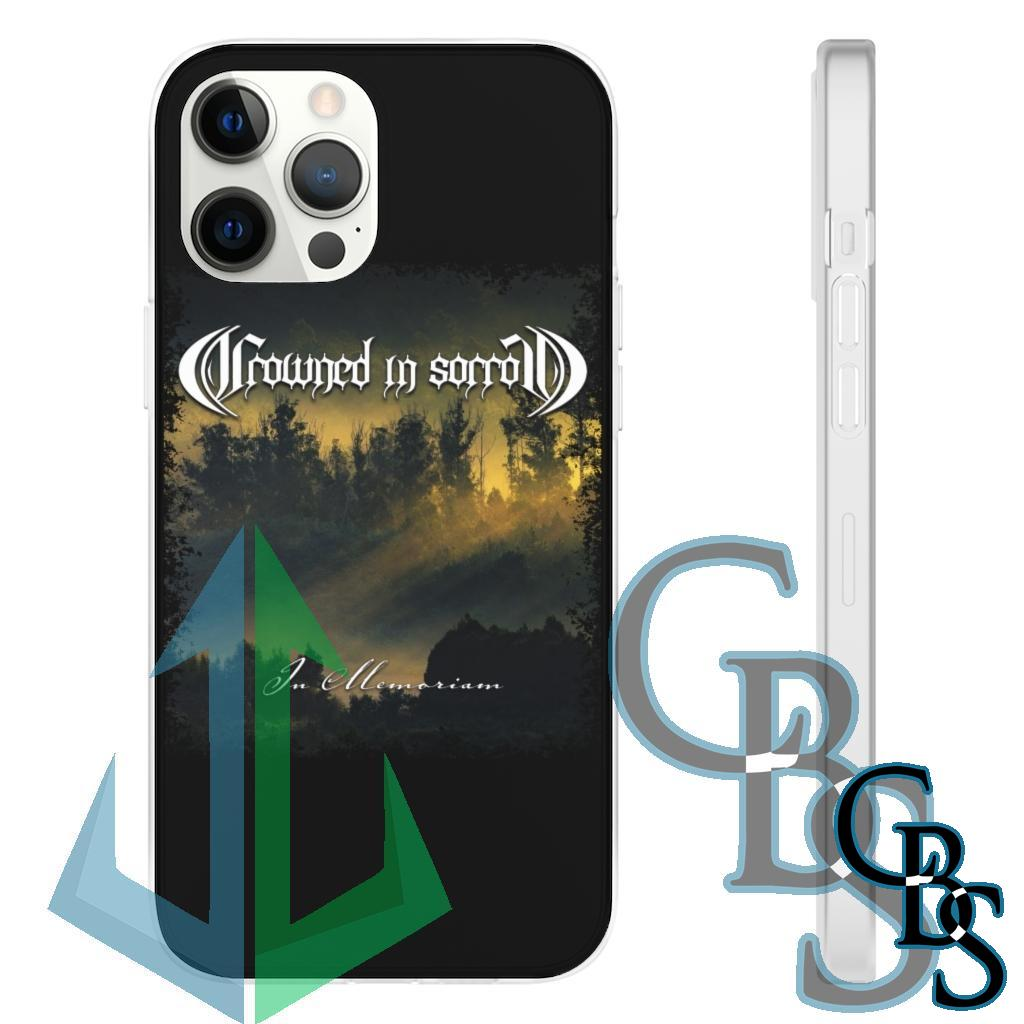 Crowned In Sorrow – In Memoriam Clear Edge TPU Cases for iPhone 7 through iPhone 12, Samsung Galaxy S10