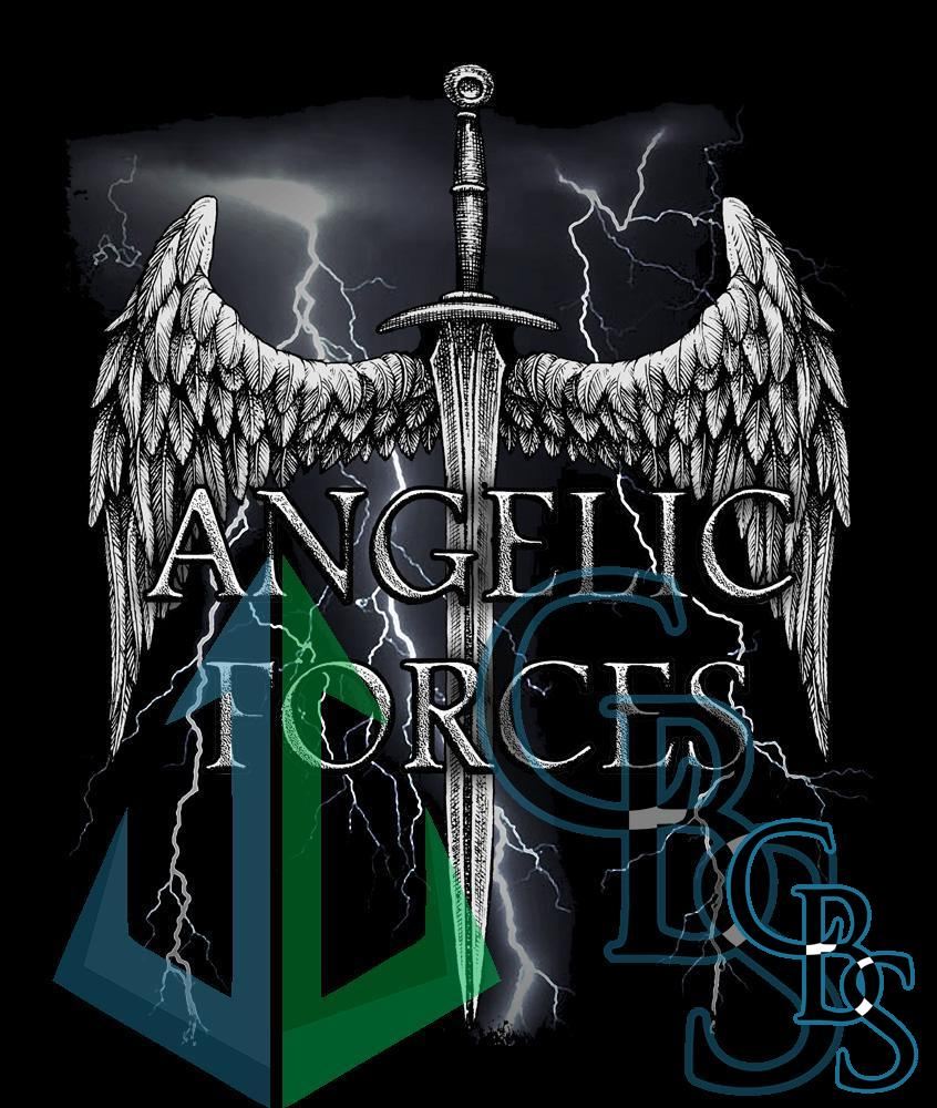 Angelic Forces Lightning Canvas Printed Patches (3 Sizes)