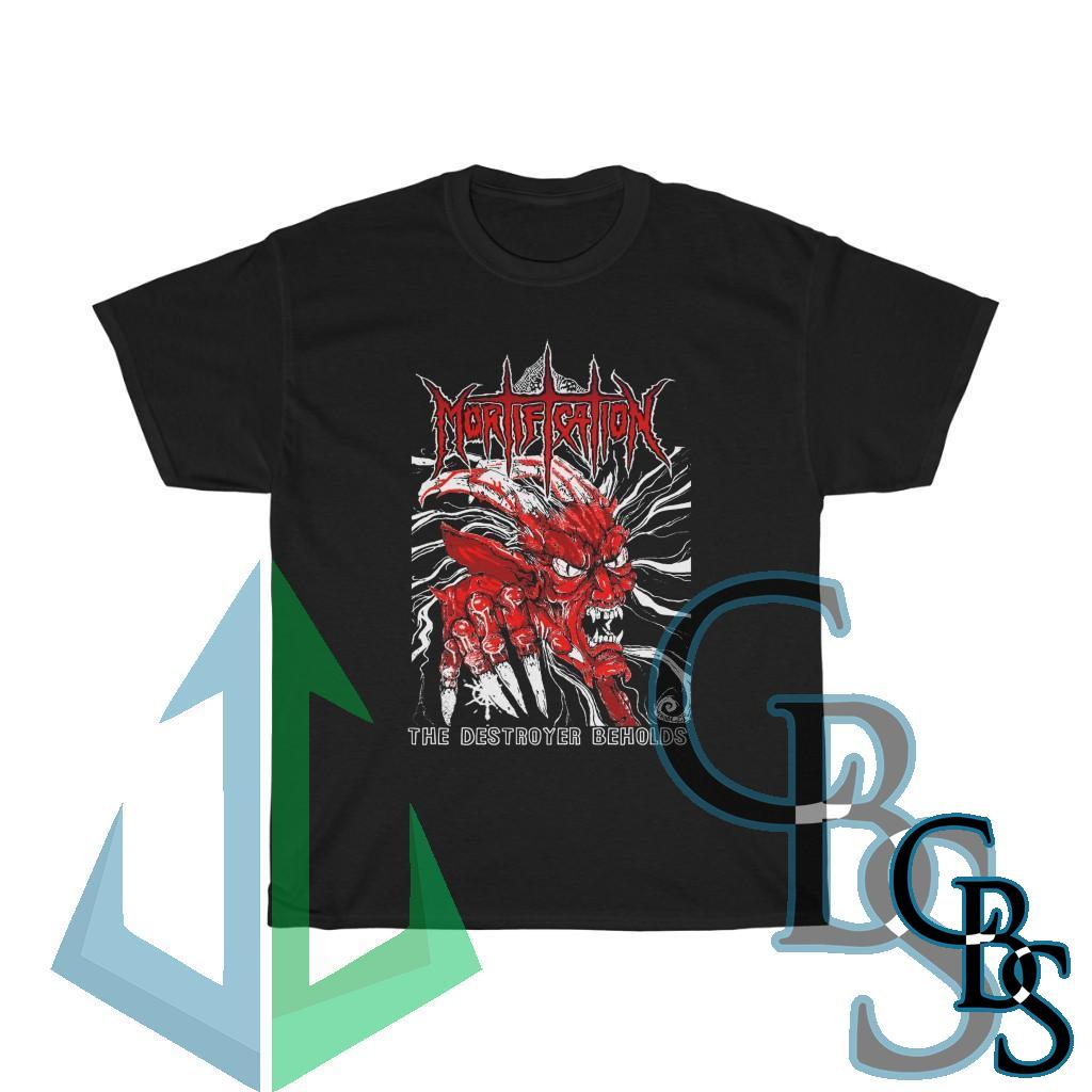 Mortification The Destroyer Beholds (Red) Short Sleeve Tshirt