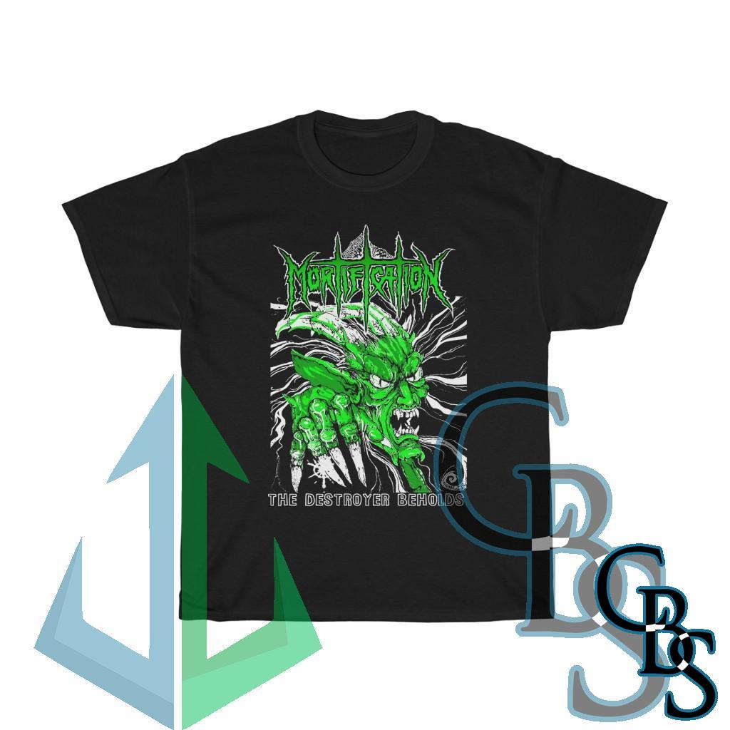 Mortification The Destroyer Beholds (Green) Short Sleeve Tshirt (5000D)