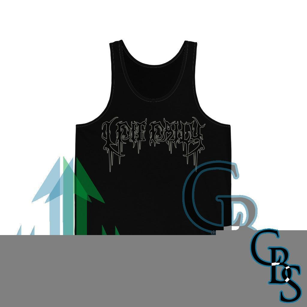 I Die Daily Outlined Logo Unisex Jersey Tank Top