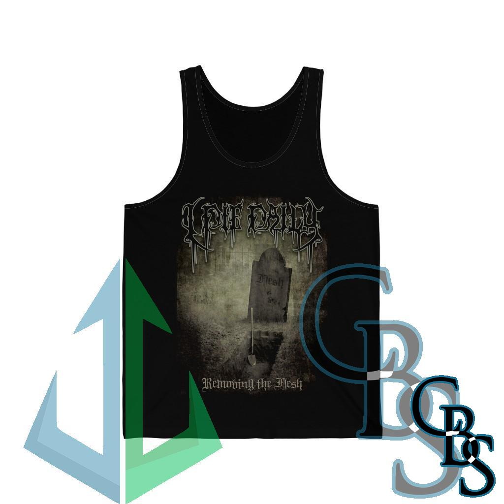 I Die Daily – Removing the Flesh Unisex Jersey Tank Top