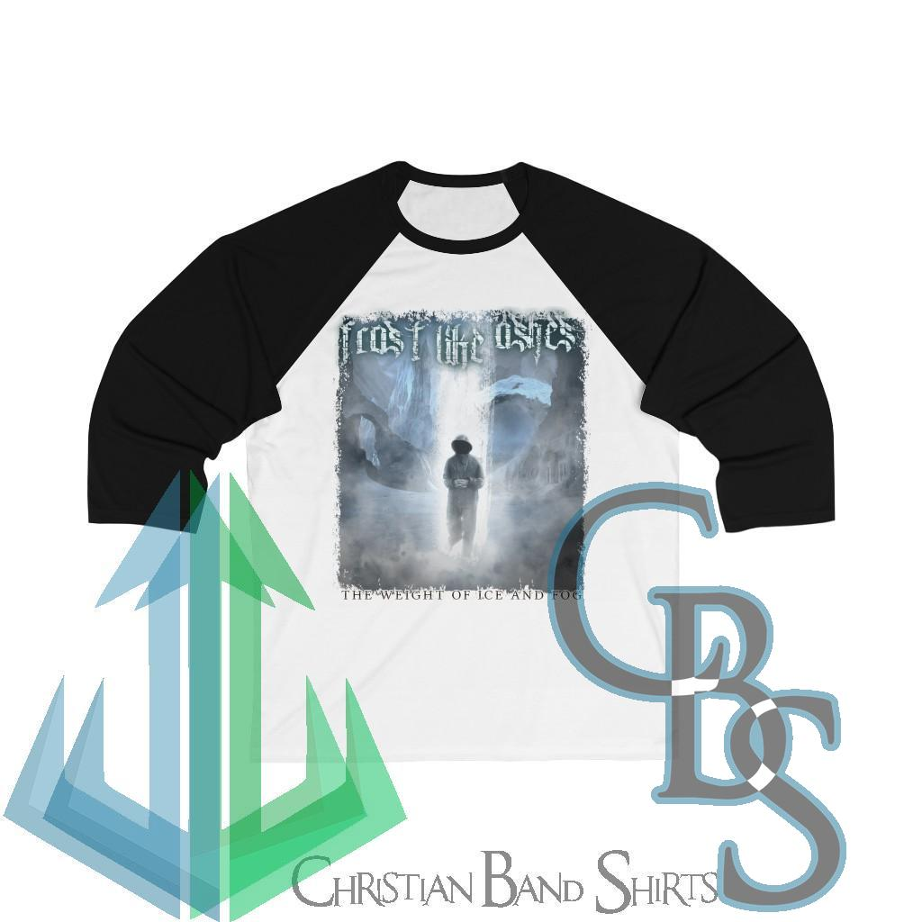 Frost Like Ashes – The Weight of Ice and Fog 3/4 Sleeve Baseball Tee