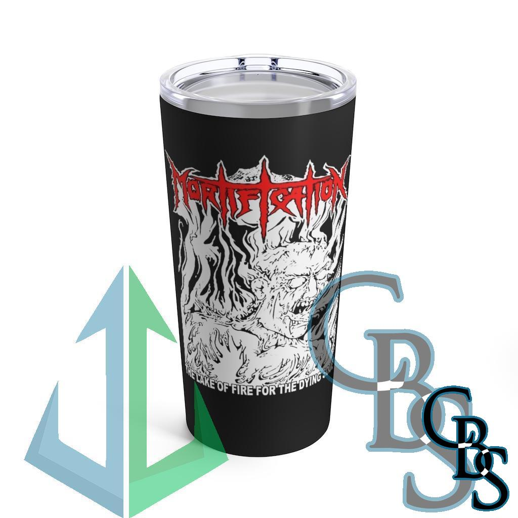 Mortification – The Lake of Fire 20oz Stainless Steel Tumbler