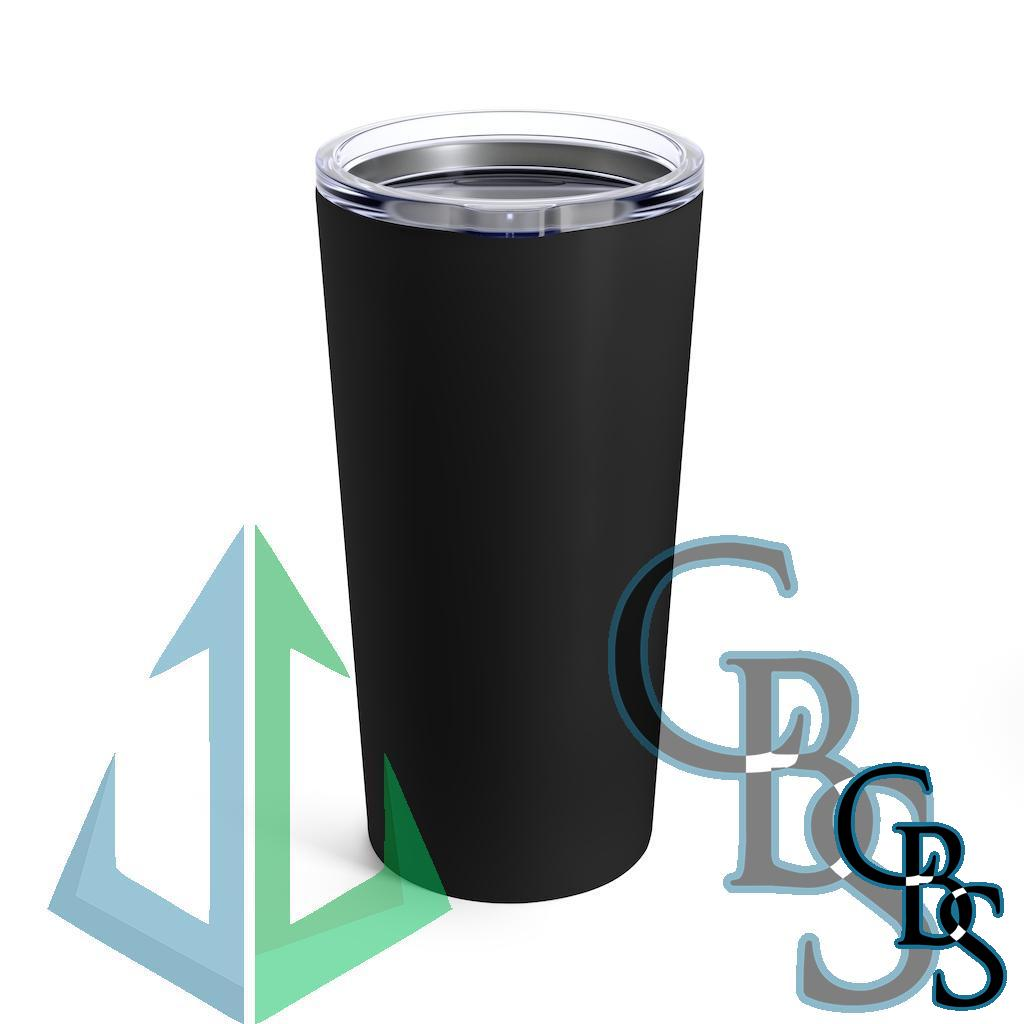 I Die Daily Outlined Logo Black 20oz Stainless Steel Tumbler