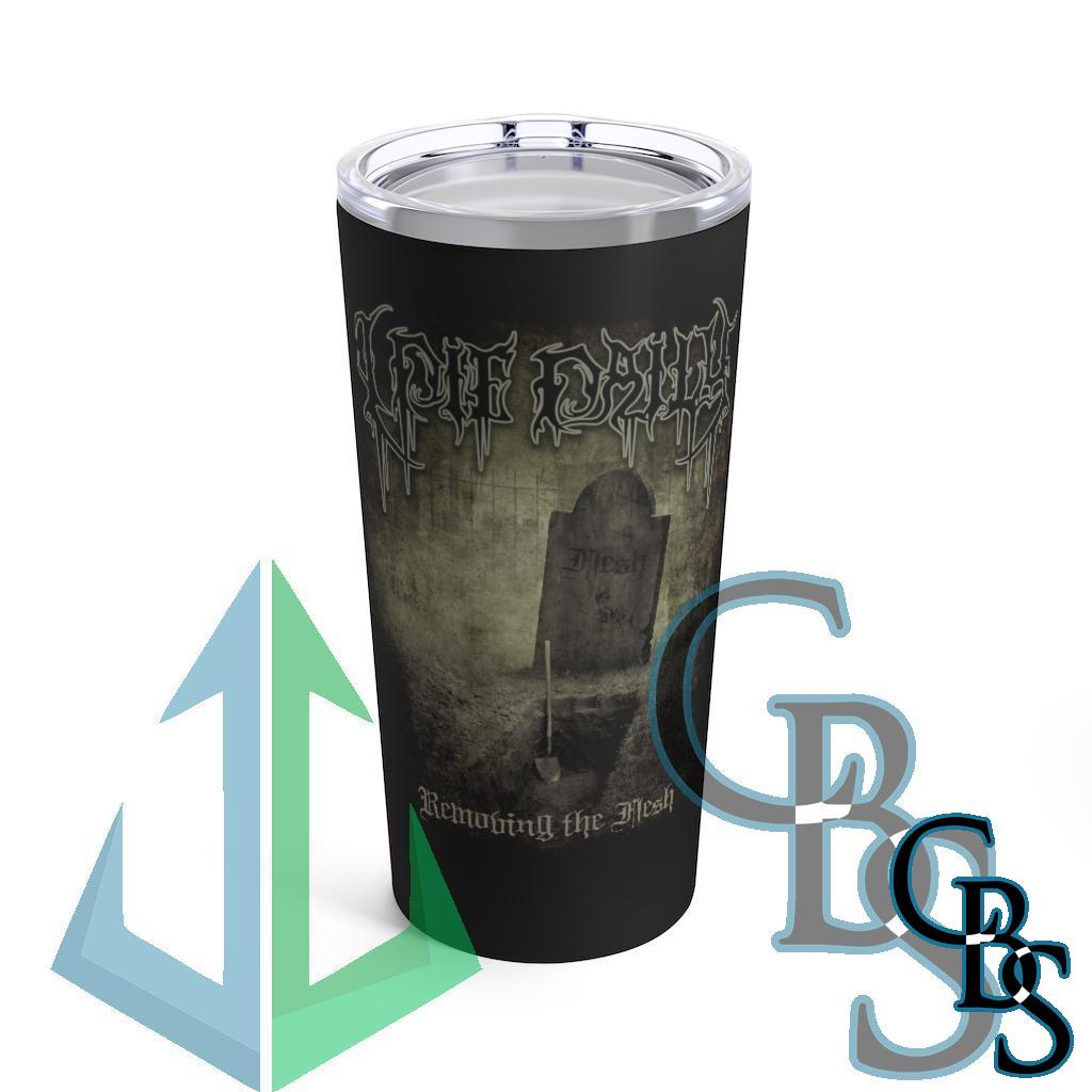 I Die Daily – Removing the Flesh Black 20oz Stainless Steel Tumbler