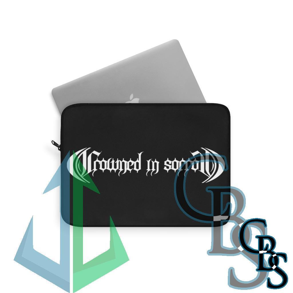 Crowned in Sorrow White Logo Laptop Sleeves (3 sizes)