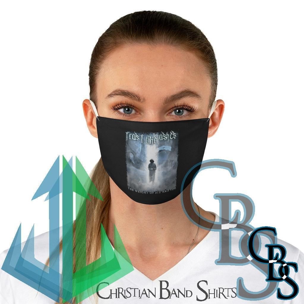 Frost Like Ashes – The Weight of Ice and Fog Black Fabric Face Mask