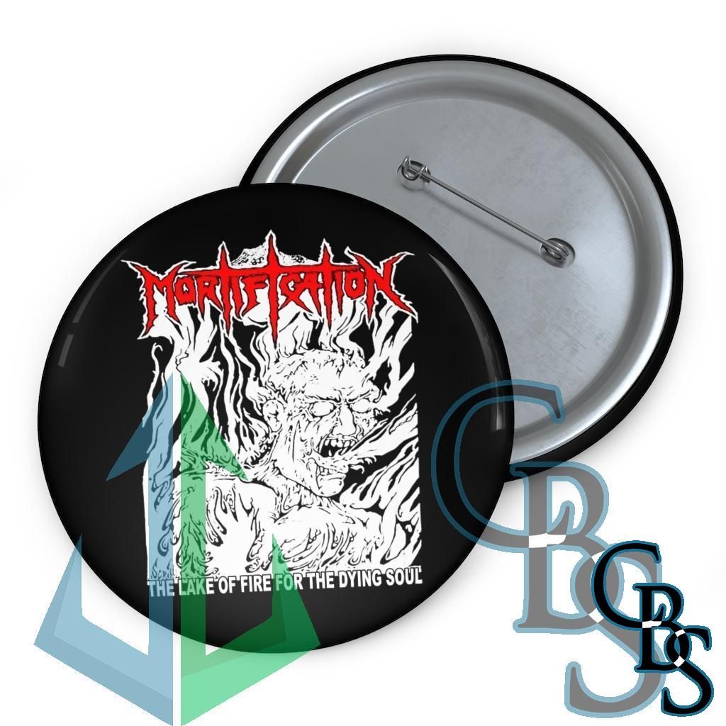 Mortification – The Lake of Fire Pin Buttons