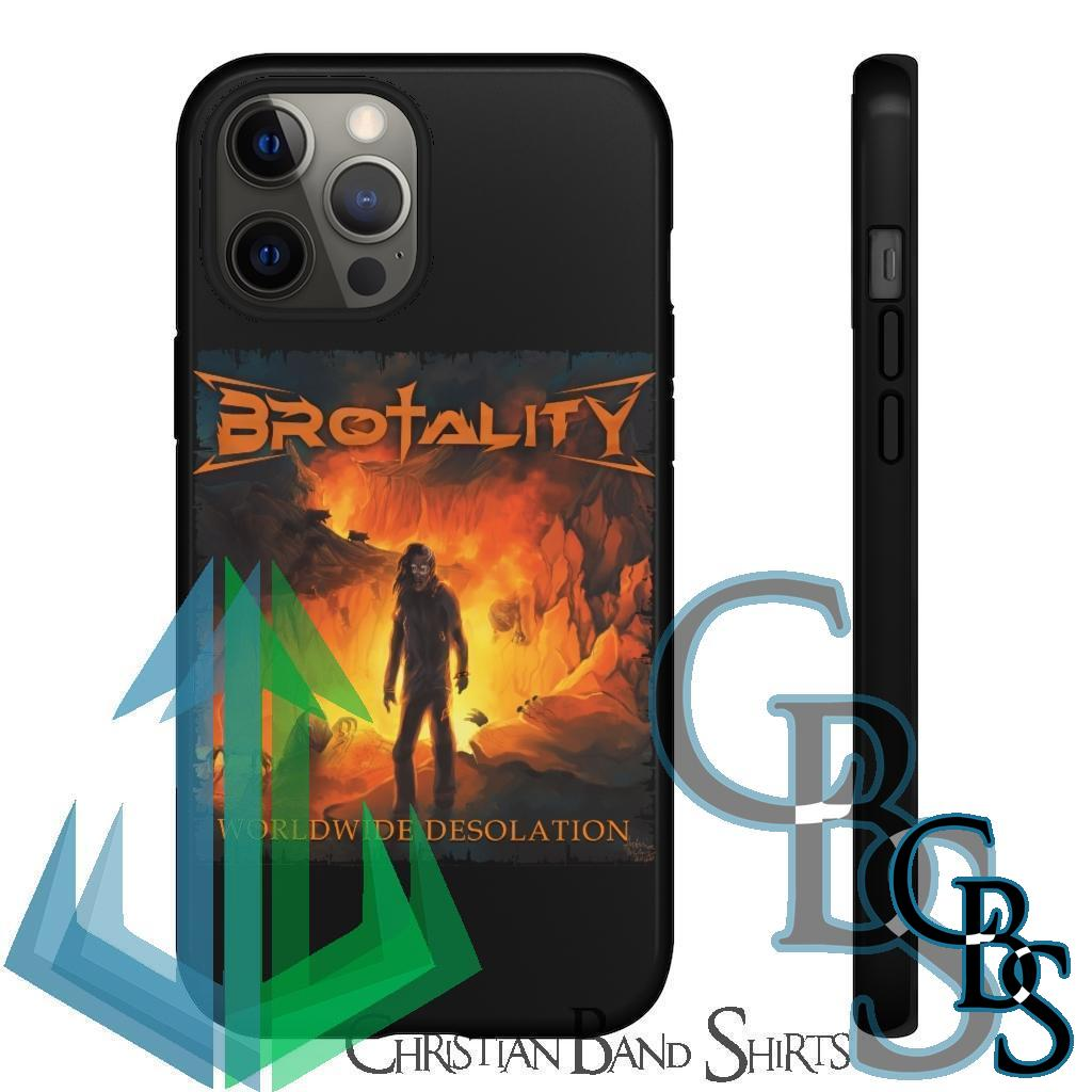 Brotality – Worldwide Desolation Tough Cases (iPhone models 8-12, Samsung Galaxy S10-S20)