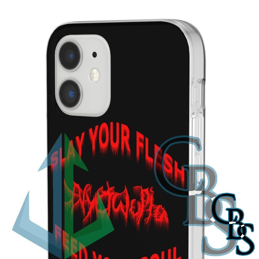 Nyctalopia Slay Your Flesh Clear Edge TPU Cases for iPhone 11 to iPhone 12 Pro Max, Samsung Galaxy S10/S10 Plus