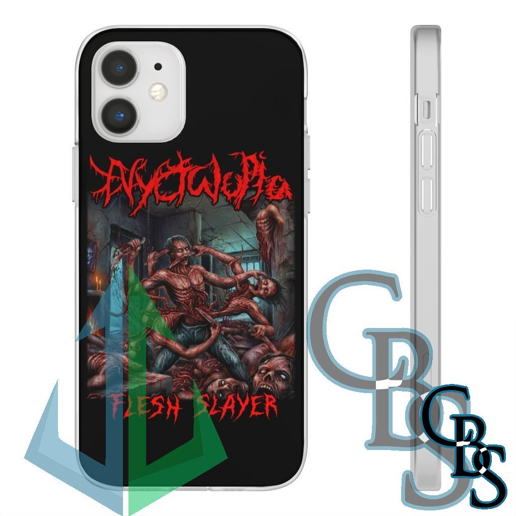 Nyctalopia – Flesh Slayer Clear Edge TPU Cases for iPhone 11 to iPhone 12 Pro Max, Samsung Galaxy S10/S10 Plus