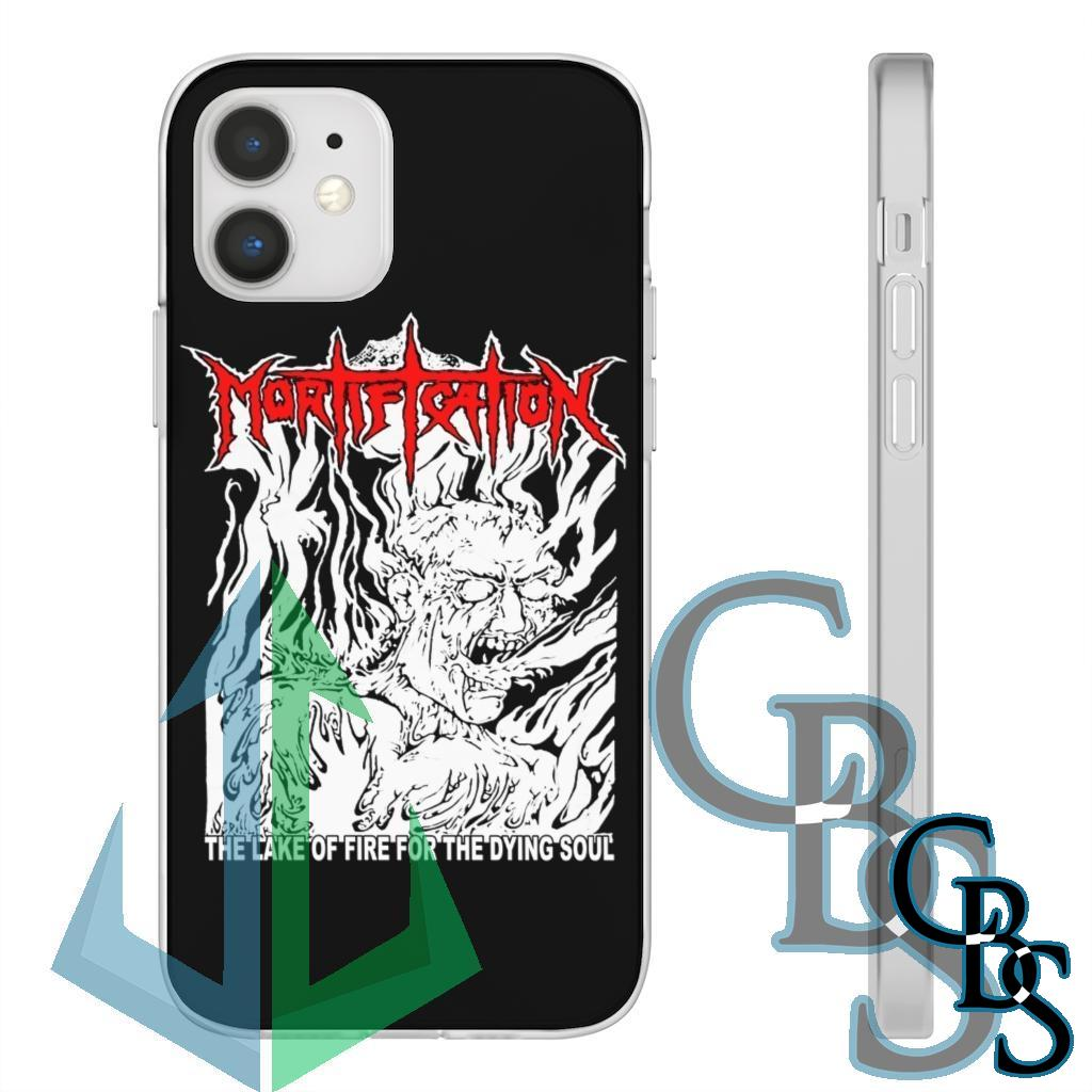 Mortification – The Lake of Fire Clear Edge TPU Cases for iPhone 7 through iPhone 12, Samsung Galaxy S10